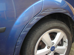 Car body damage repairs